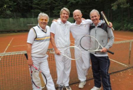 v.l.n.r: Uli Offenberg,Prof.Wolf-Dieter Rind, Willy Bogner, Fritz Egner