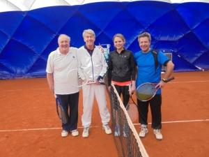 Dr. Karl Mauthe,Prof. W.D. Ring, Valerie Saur und Michael Weberpals