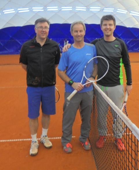 MPTC Vorstand Josef Böck , Hansjörg Schwaier , ehemaliger Davis Cup Spielers und sein Sohn Robin